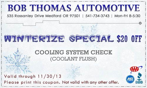 November 2013 BTA Coupon: Winterize Special